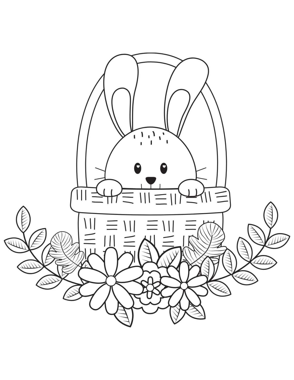 Easter Coloring pages - Easter printables for preschool