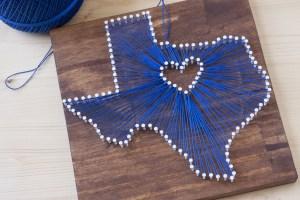 Texas State String Art
