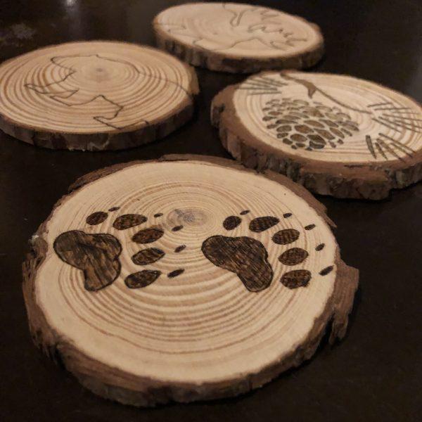 Paw Print Coasters