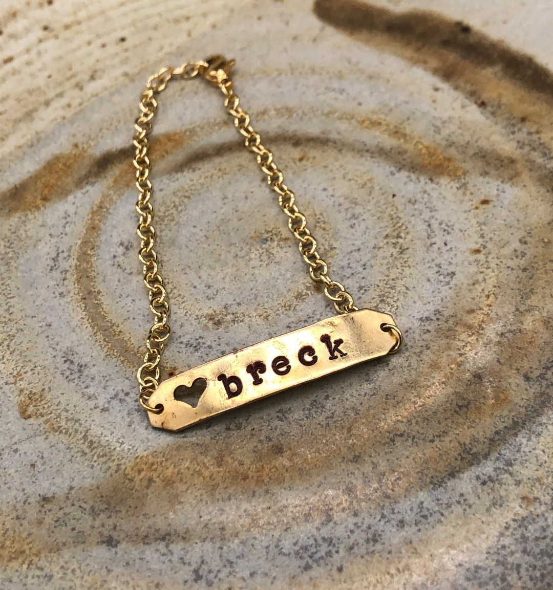 Stamped Metal Necklace