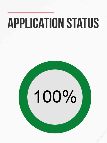 EMGS Application Status Progress bar