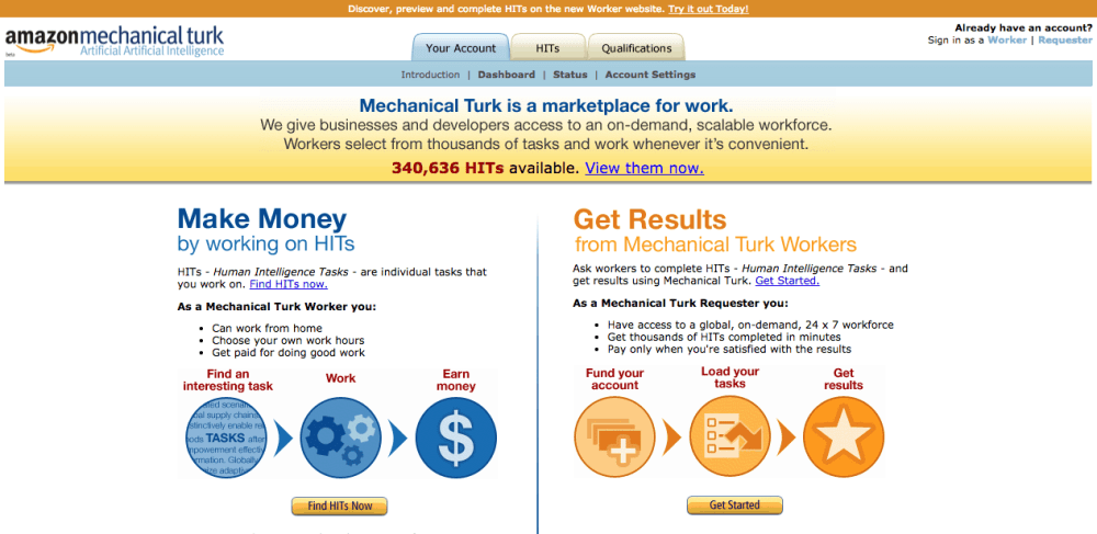 Amazon Aechanical Turk Screenshoot-1