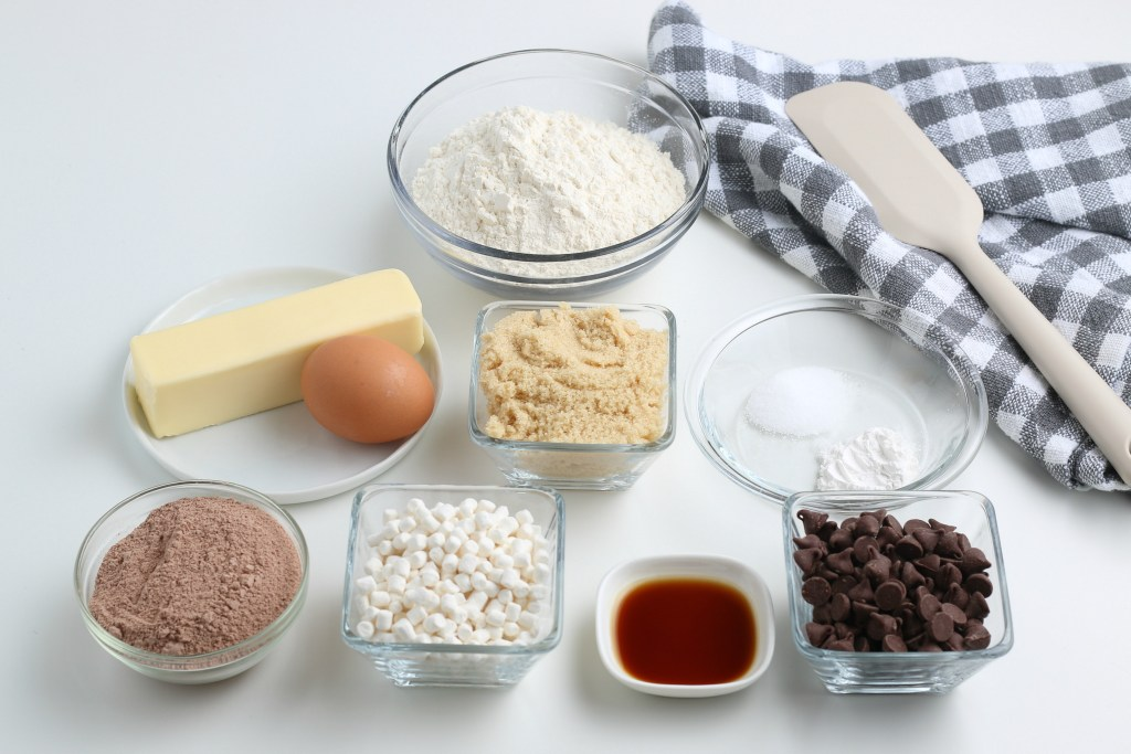 ingredients for hot chocolate cookies