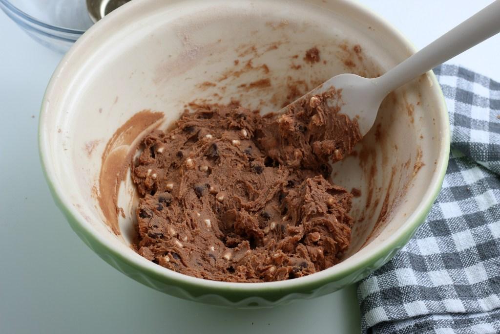 process shot of hot chocolate mix
