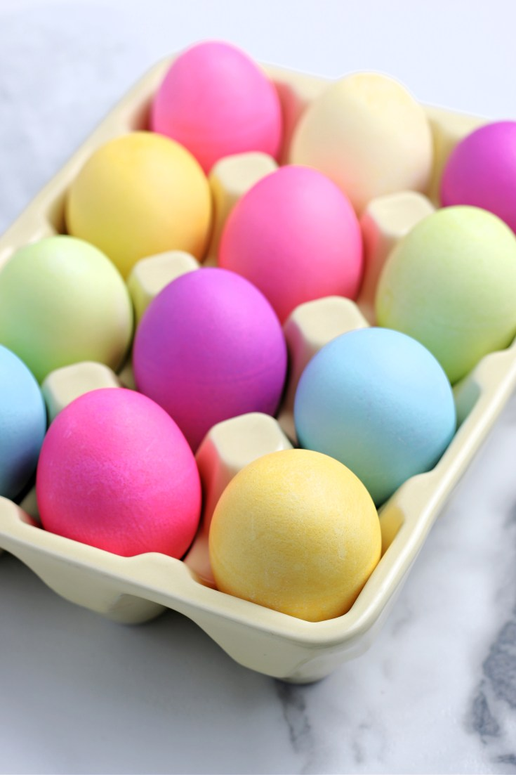 colorful dyed eggs
