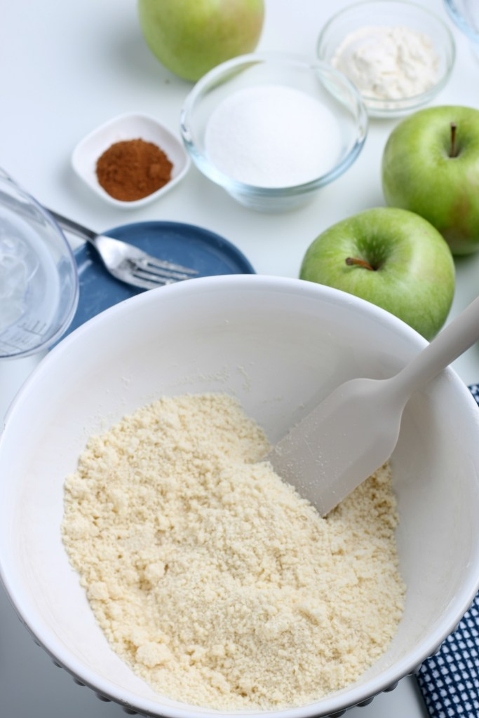 process shot of apple crostata