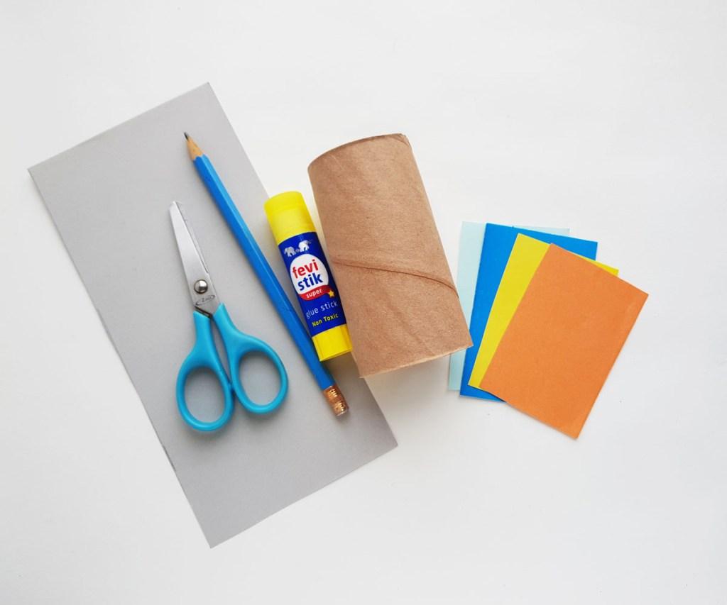 Toilet Paper Roll Rocket Craft supplies