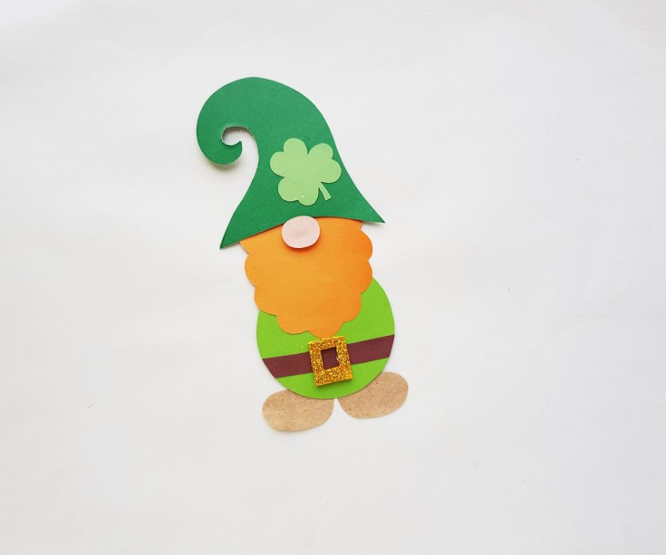 papercraft gnome finished