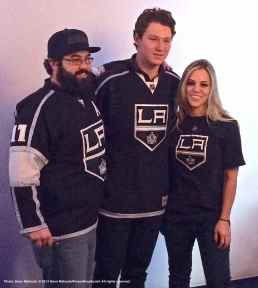 Right wing Tyler Toffoli (center) with fans