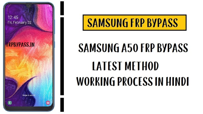 Samsung A50 FRP Bypass - Unlock Google Account (SM-A505)
