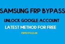 Samsung FRP Bypass (Unlock Google Account)