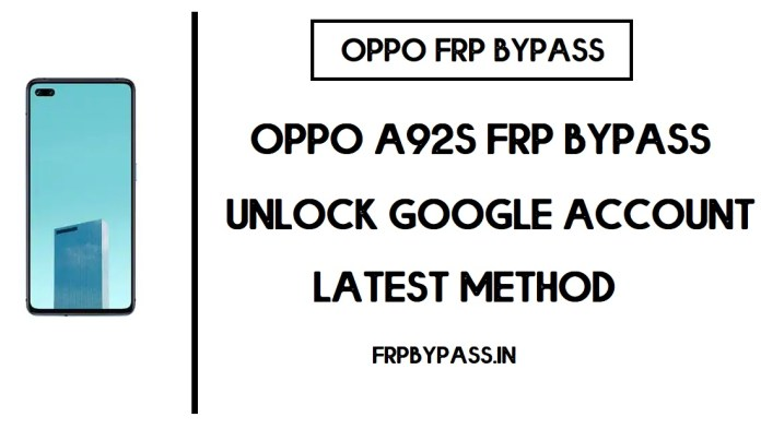 Oppo A92s FRP Bypass (Unlock PDKM009 Google Account) Android 10