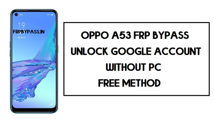 Oppo A53 FRP Bypass (Unlock Google Account) Android 10 | FRP Code