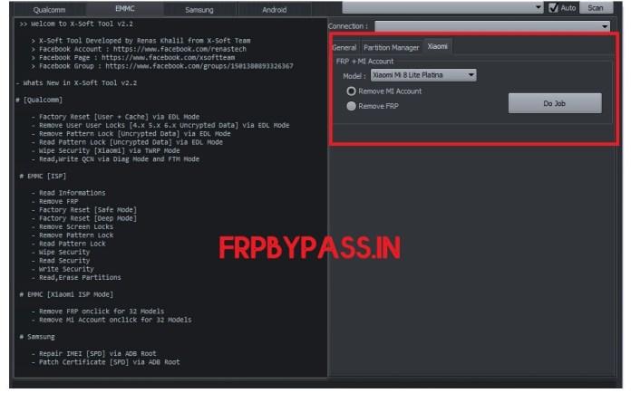 Xaomi FRP Unlock Tool