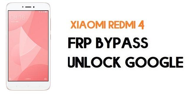 Xiaomi Redmi 4 FRP Bypass | Unlock Google Verification (MIUI 11)