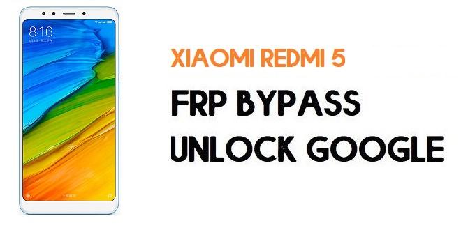 Xiaomi Redmi 5 FRP Bypass | Unlock Google Verification (MIUI 11)