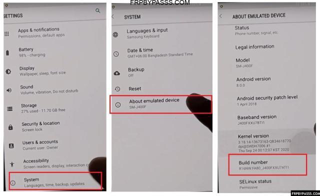 Samsung FRP Bypass Unlock File