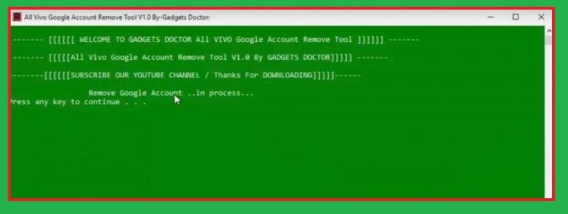 Vivo FRP Tool Unlock Bypass provess