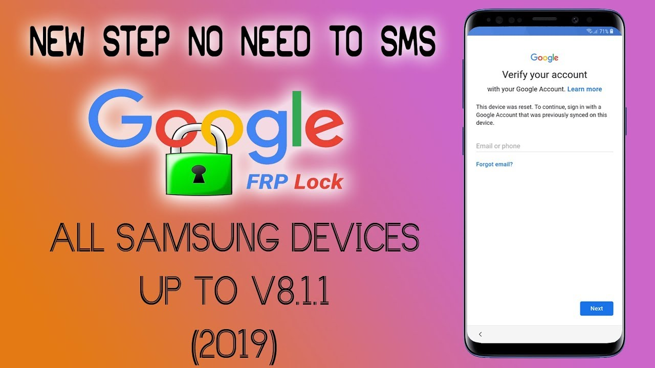 How To Bypass Google Account On Samsung S7 2019 SAMSUNG S7