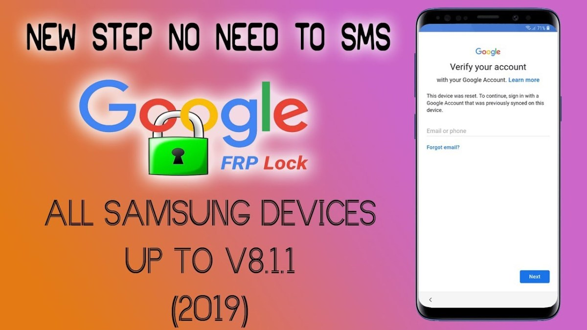 remove frp samsung s7 s8 s9 all version all security 2019 bypass google 3