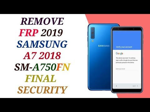 remove frp samsung a750fn reset bypass a7 2018 final security account 8