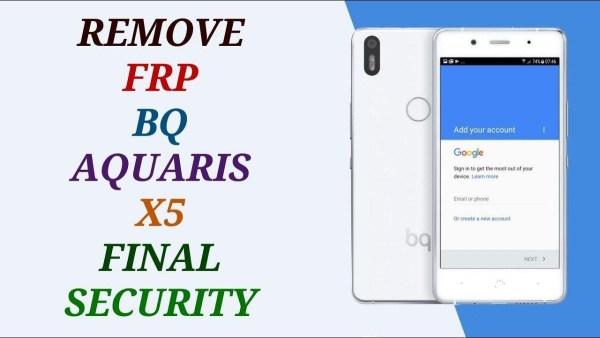 remove frp bq aquaris x5 done bypass account google free unlock 2