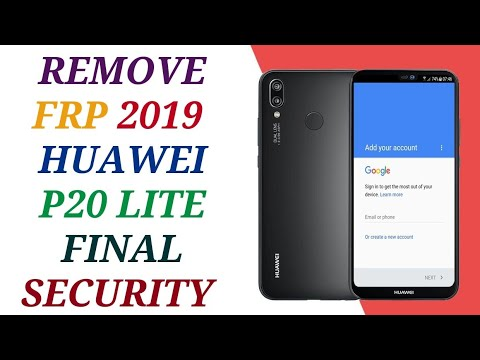 remove frp huawei p20 lite  done wihout box new security 2019 2