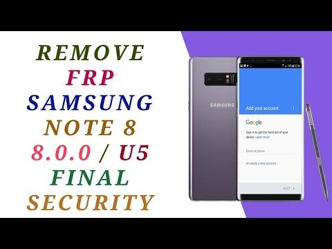 remove frp samsung note 8 google account n950f u5 done - frp done