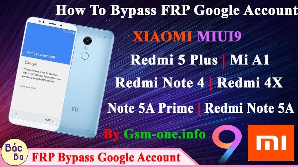 remove bypass frp all xiaomi miui 9 reset account google all model mi 2