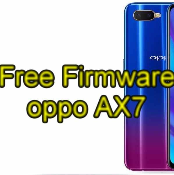 Firmware oppo AX7 update