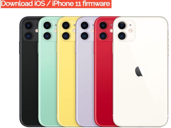 iPhone 11 firmware update