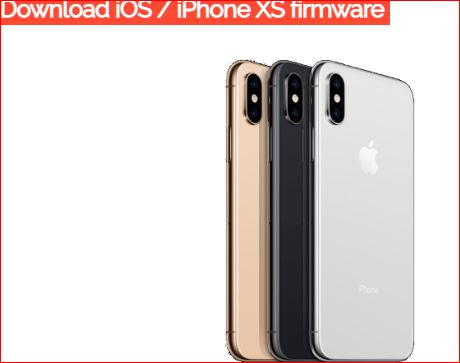 Download iOS iPhone XS firmware update 2