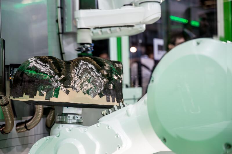 carbon fiber prepreg patch placement system to achieve 3D net preforming
