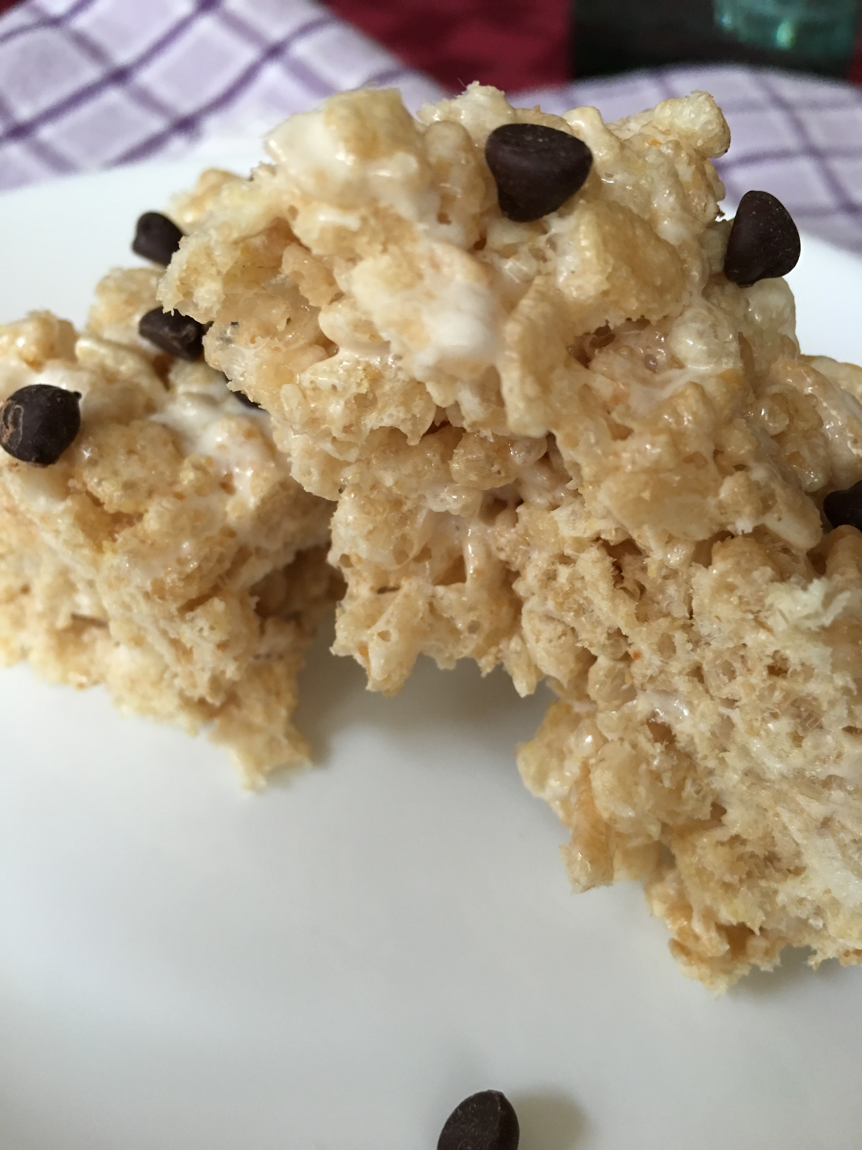 Healthy gluten free krispie treat safe for fructose malabsorption