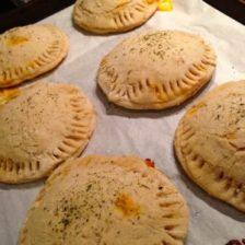 gluten free calzones baked to a golden brown
