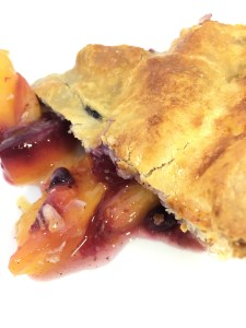 Gluten free, sugar free blueberry peach pie - Summer Yum!