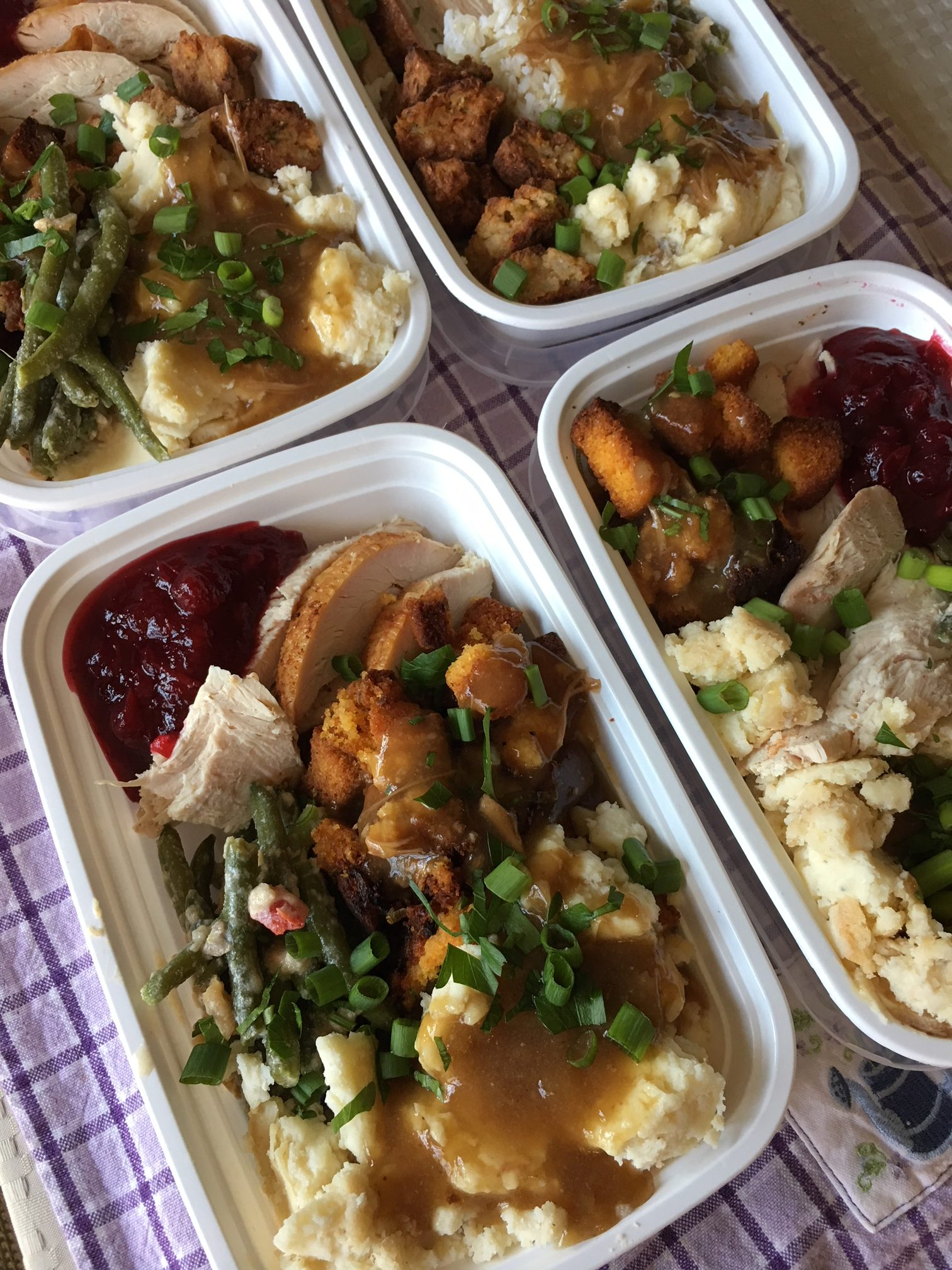 Leftover turkey meals