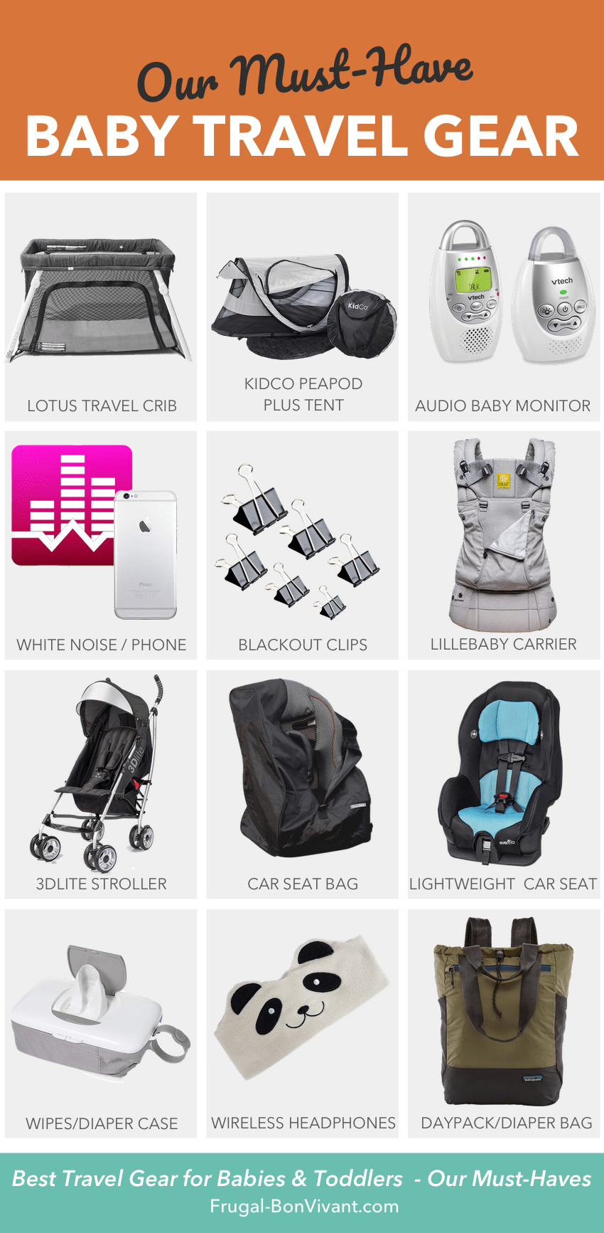 Baby travel essentials, best baby travel gear list