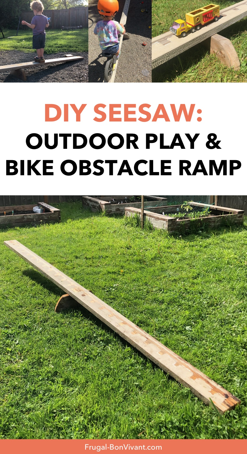 DIY Seesaw Bike Obstacle Ramp