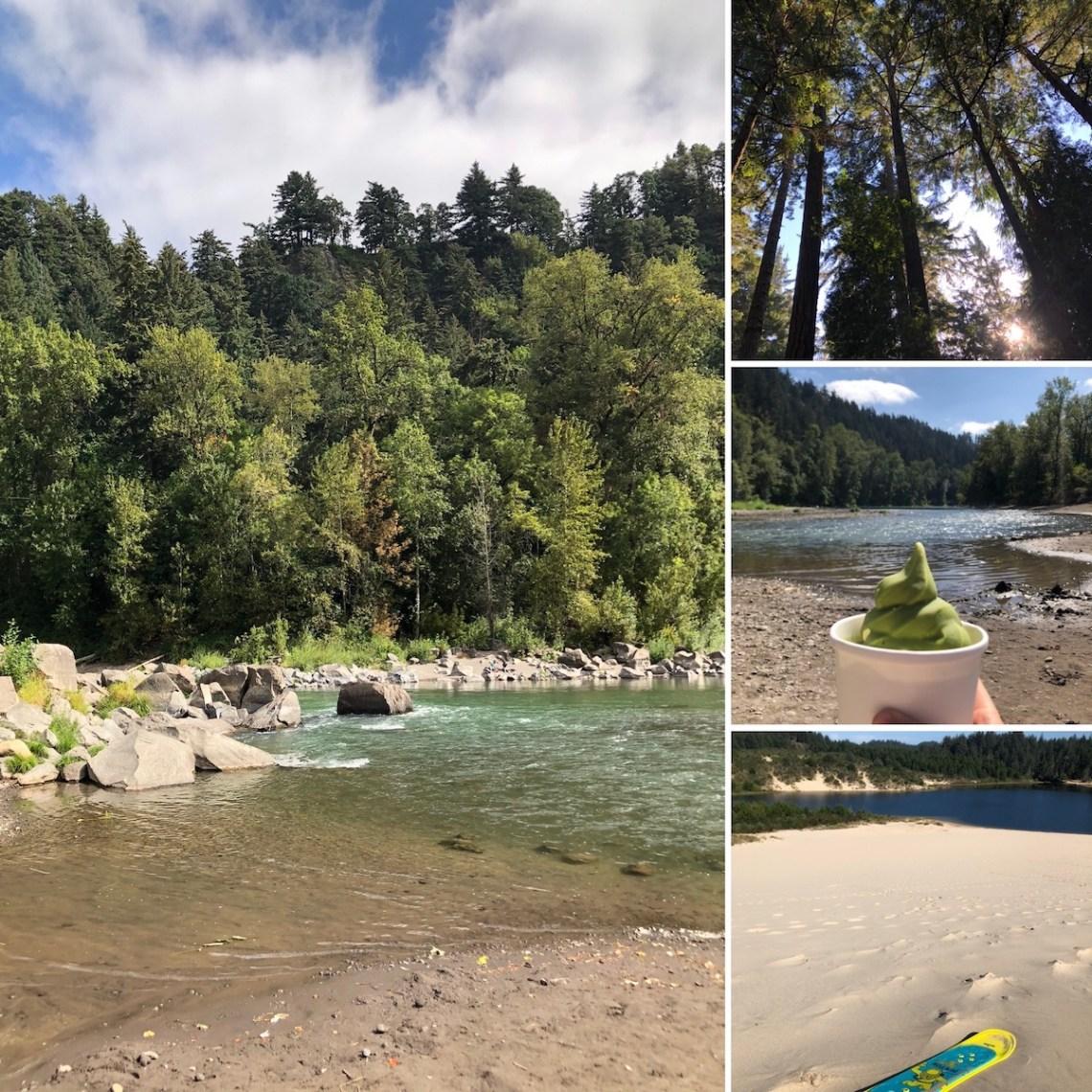Sandy river sugar pine drivein, florence camping, cleowox lake