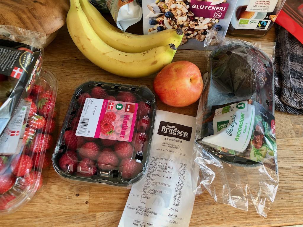 Copenhagen denmark grocery food cost