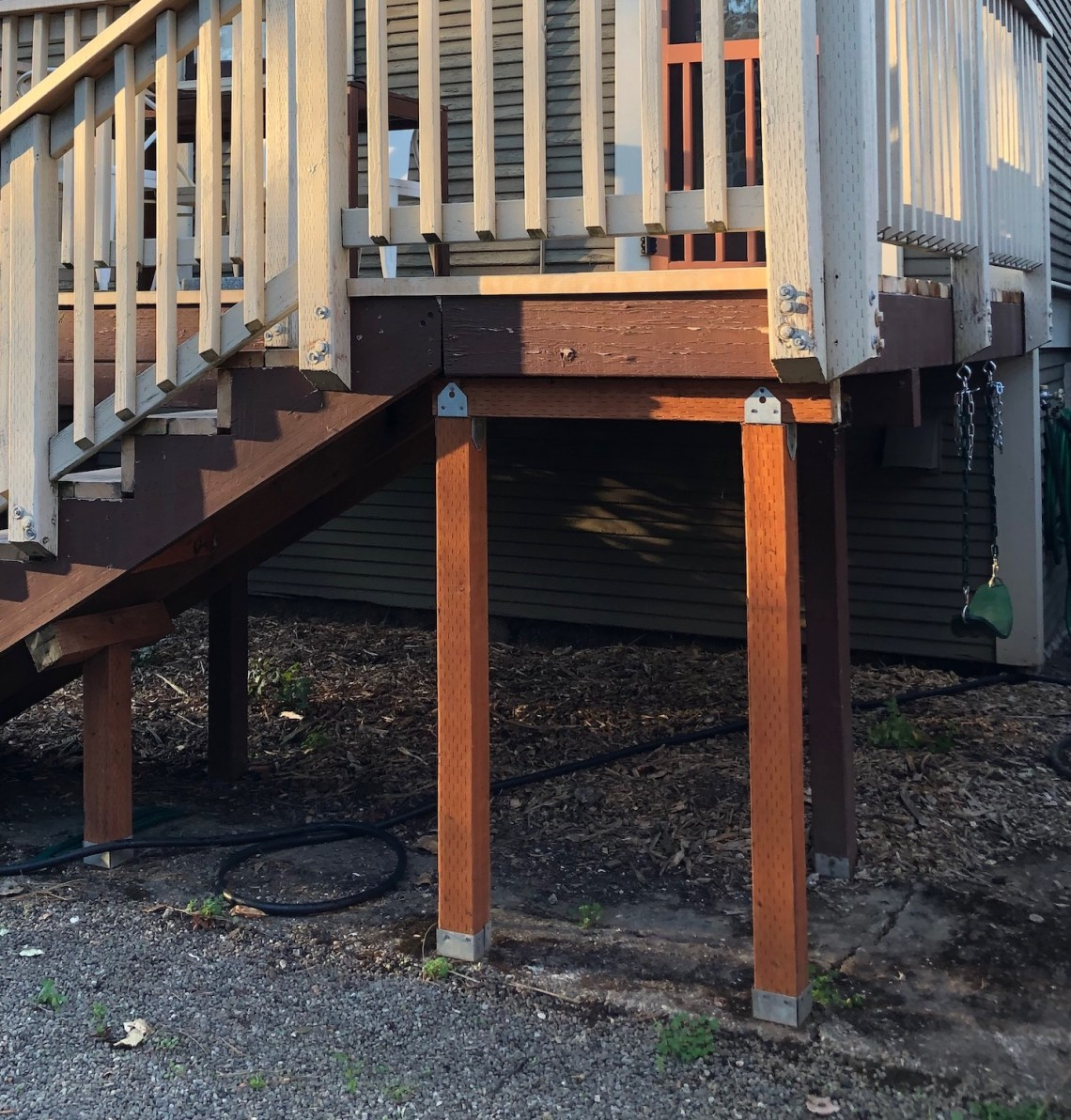 deck with slide BEFORE