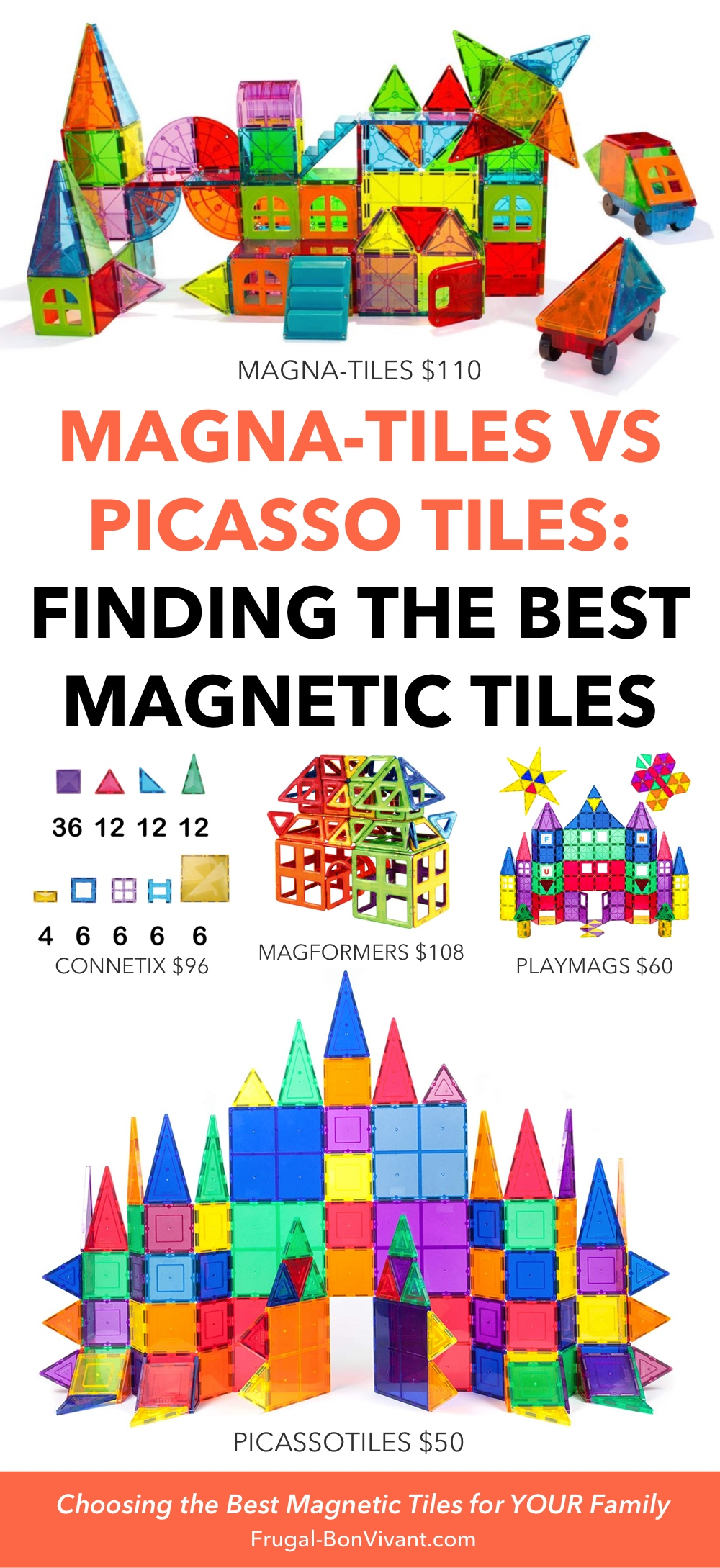 Magna Tiles vs Picasso Tiles - finding the best magnetic tiles