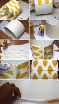 Frugal-nomics DIY: Fabric Covered Lampshade   FRUGAL-NOMICS