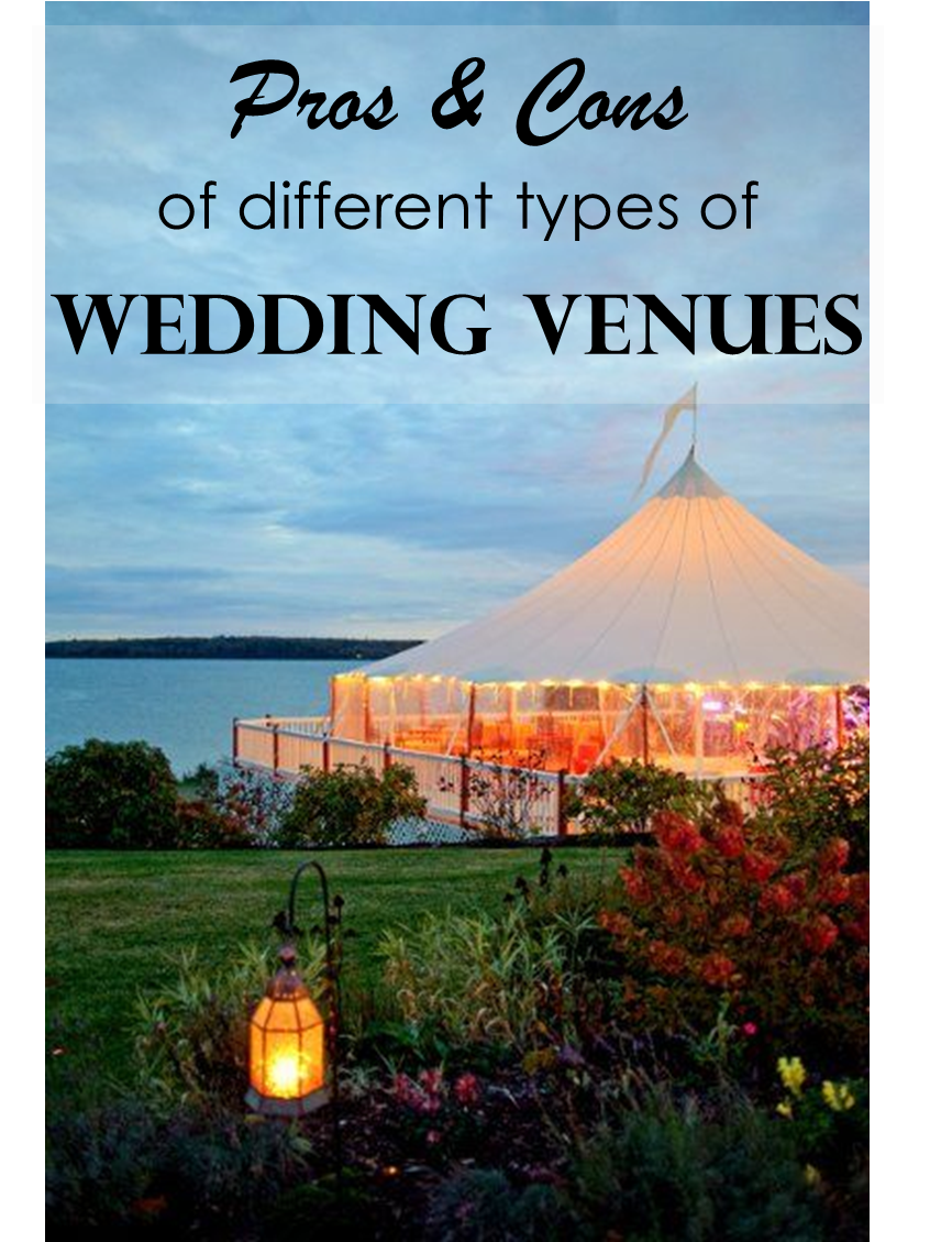 Pros n Cons of different types of Wedding Venues