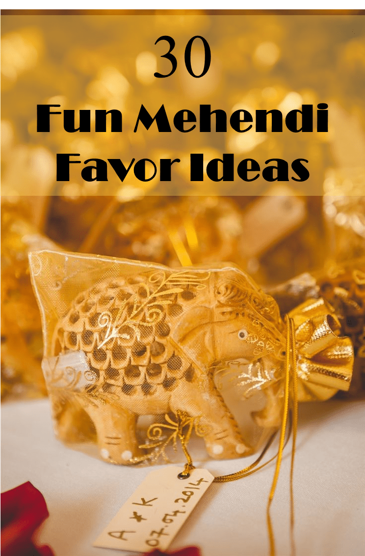 30 Fun Mehendi Favor Ideas For Your Ceremony Frugal2Fab .
