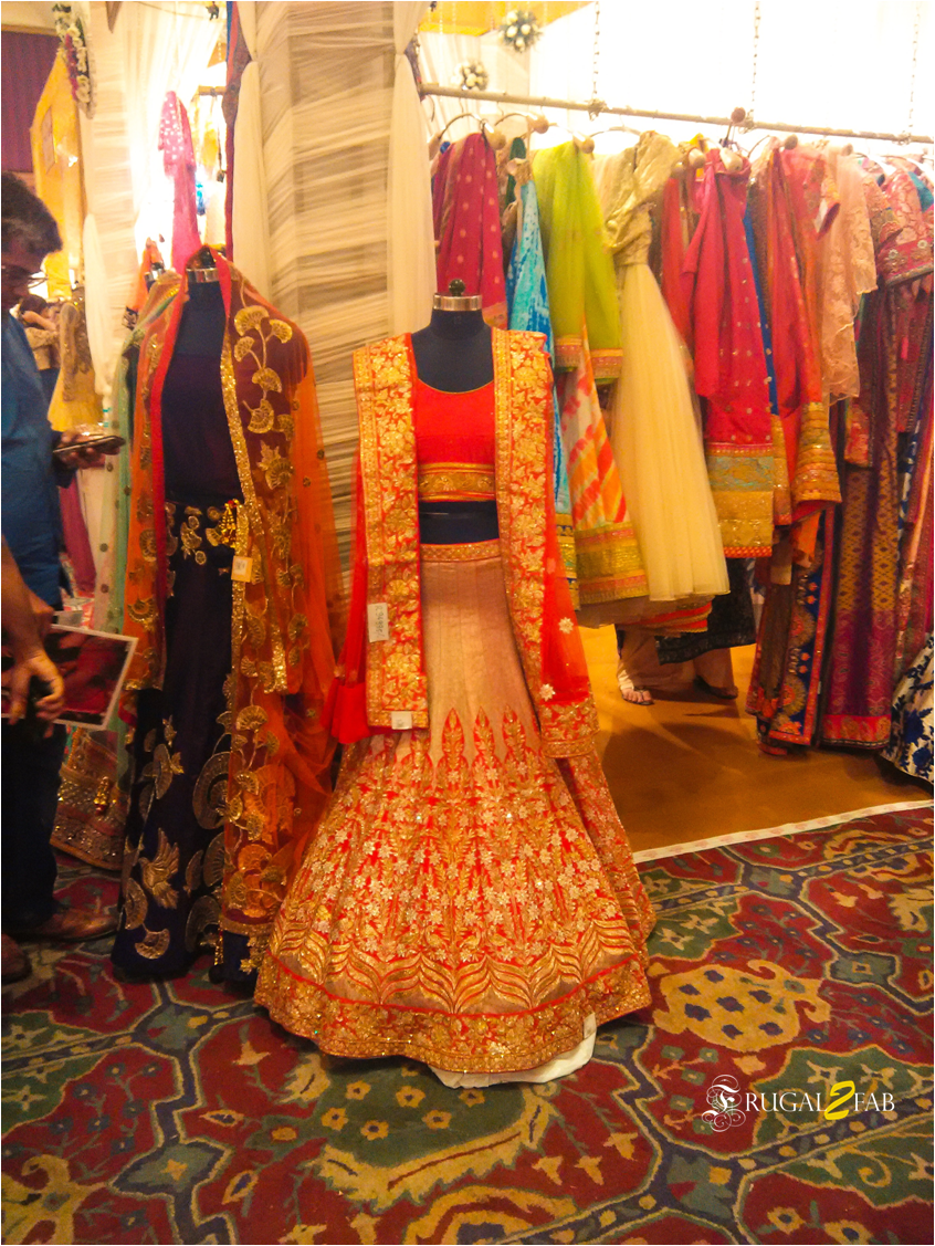 Lehengas at the wedding exhibition