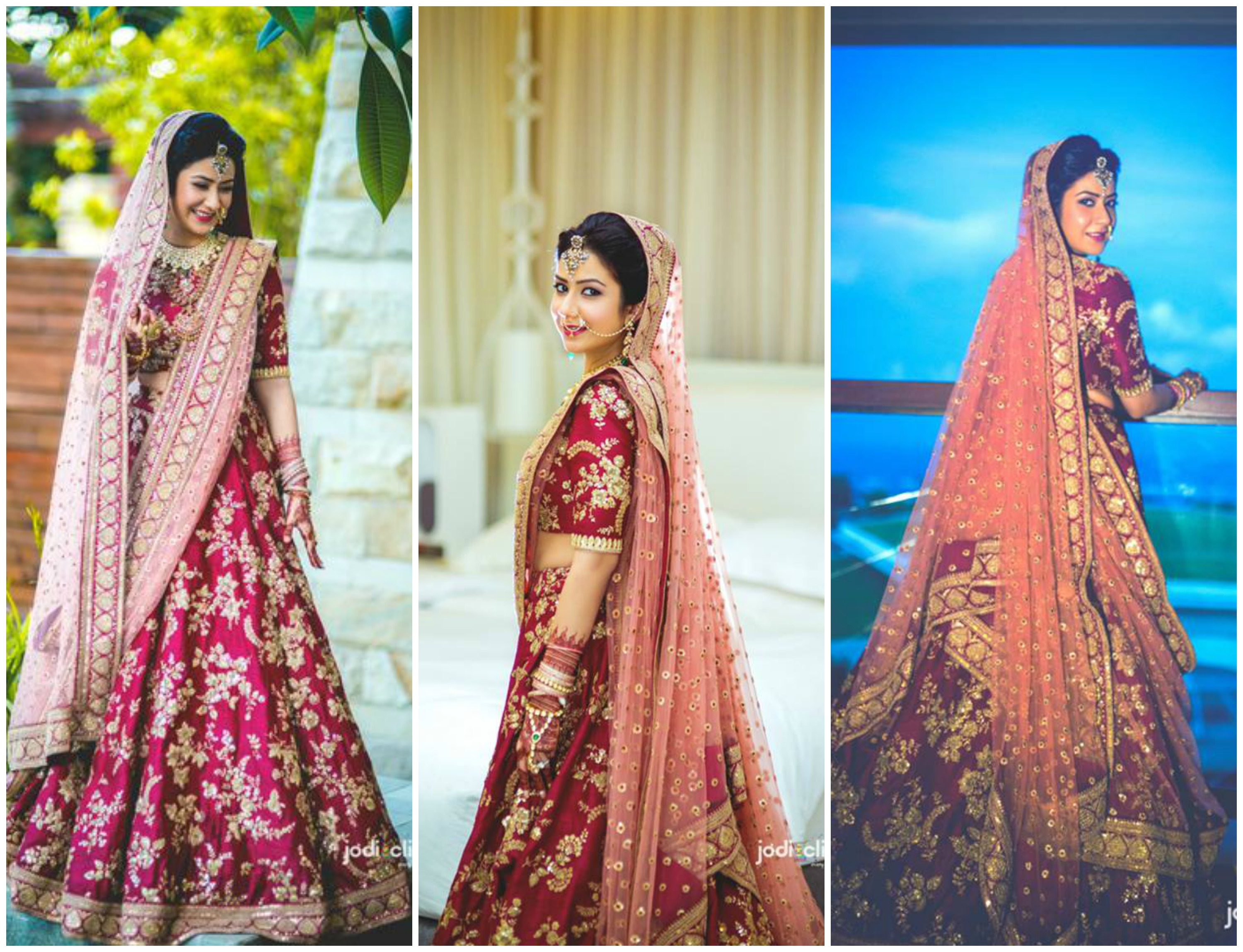9f036c6055 Choose the best contrast dupatta color for your Wedding Lehenga ...