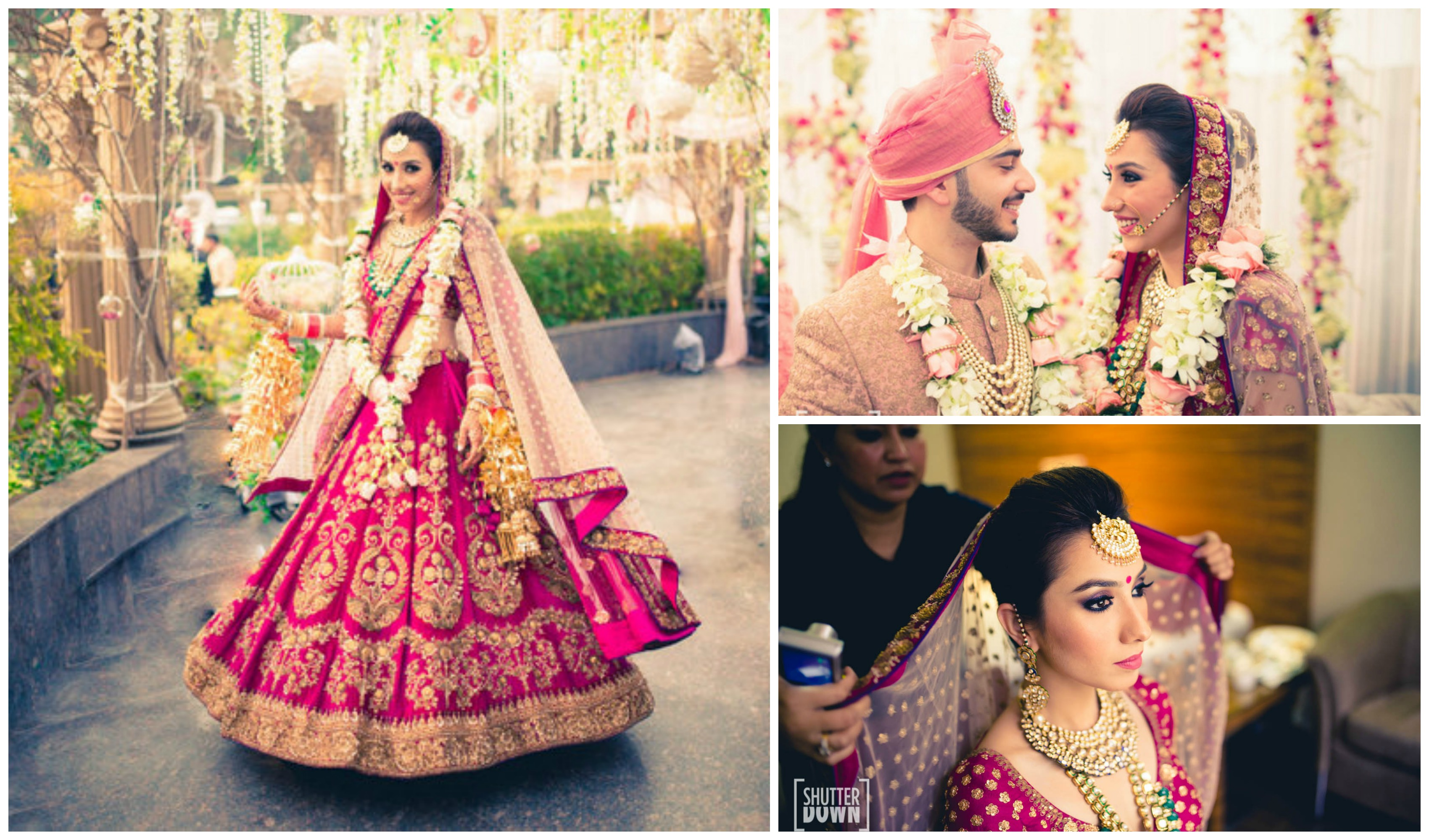 114d38b0b9 #1 Dupatta be the lighter shade of the lehenga color. wedding lehenga contrast  dupatta