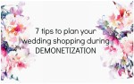 plan wedding shopping demonetization
